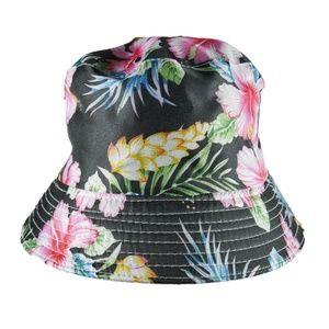 NEW Hawaiian Floral Print Bucket Hat Summer Beach
